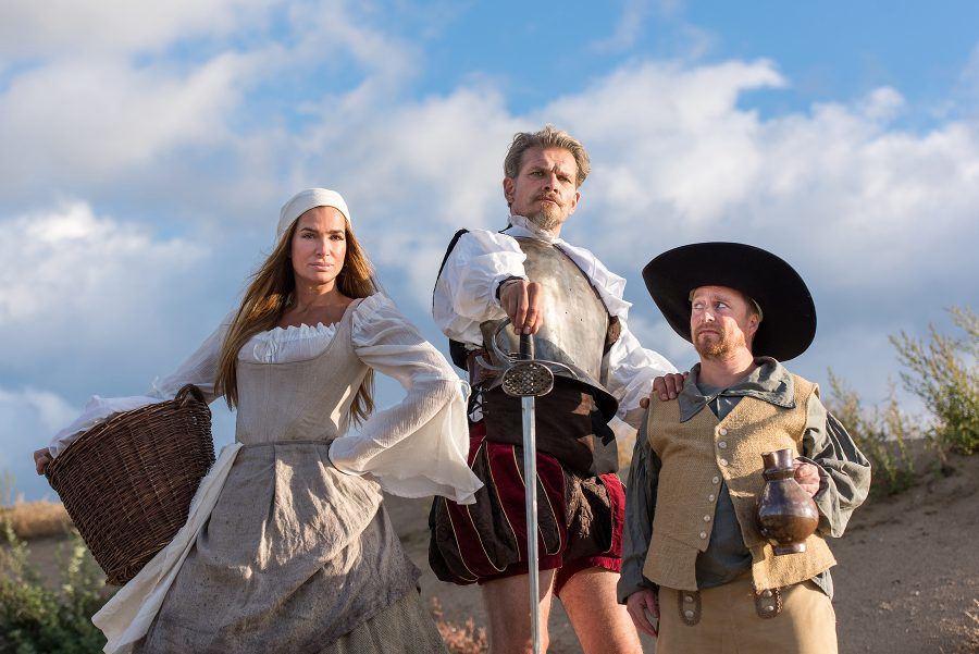 Don Quijote, Altonaer Theater, mit Alexandra Kamp, Götz Otto, Karsten Kramer; Regie: Michael Bogdanov